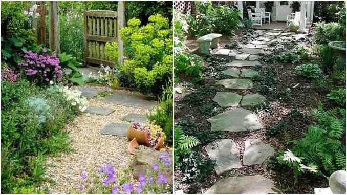 Jardim com caminho de pedras