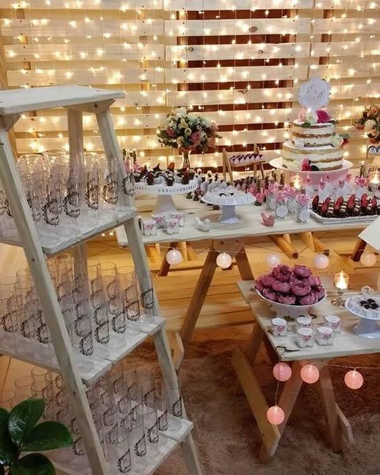 Decoração com pallets para casamentos