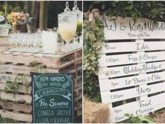 30 ideias de decoração com paletes para casamento