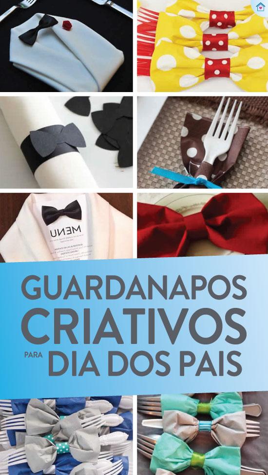 Ideias criativas de guardanapo para Dia dos Pais
