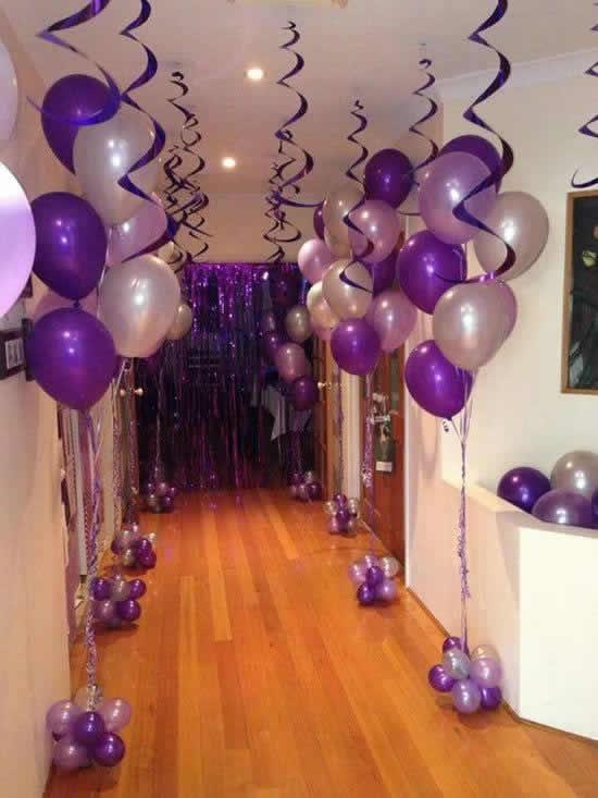 Enfeite com balões para Dia dos Pais