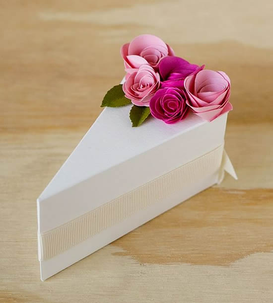 Lembrancinha linda com papel e moldes