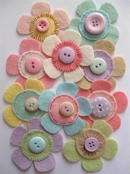 Faça artesanatos com botões