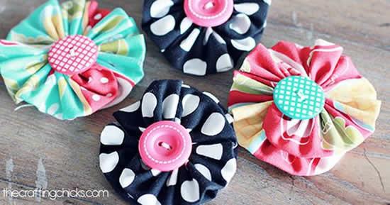 Lindos artesanatos com botões