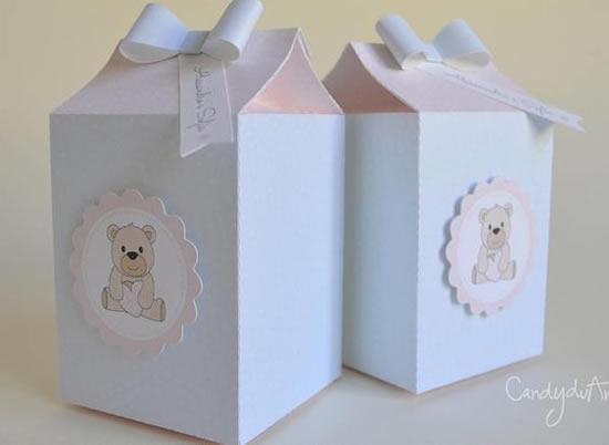 Caixinhas de leite para lembrancinha com molde