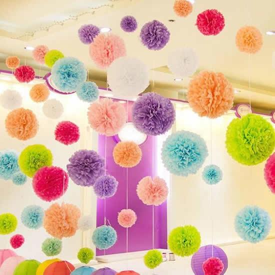 Lindas flores de papel seda