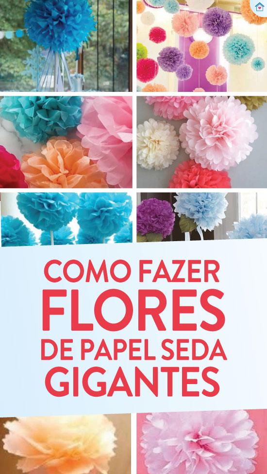 Como fazer flor de papel seda gigante
