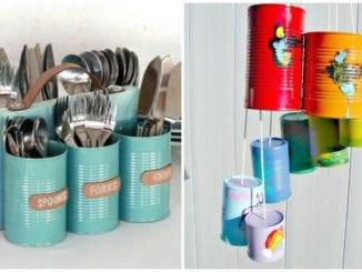 Ideias criativas para fazer artesanato de lata