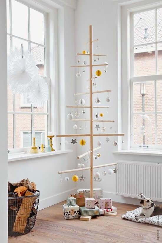 Árvore de Natal criativa para decoração