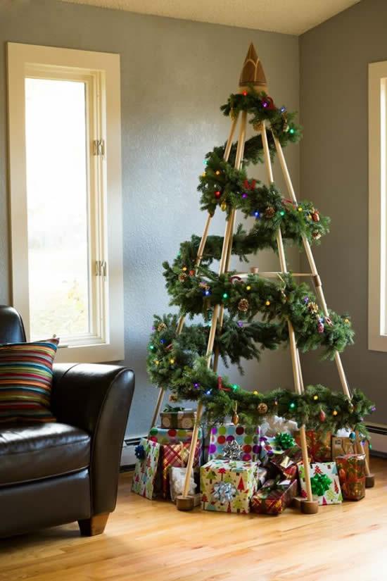 Árvore de Natal diferente para decoração