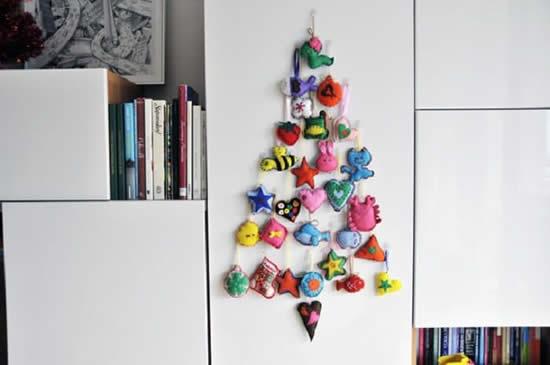 Árvore de Natal simples para decoração