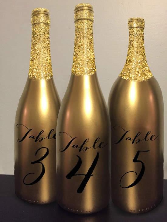 Ideias com garrafas para decoração de ano novo