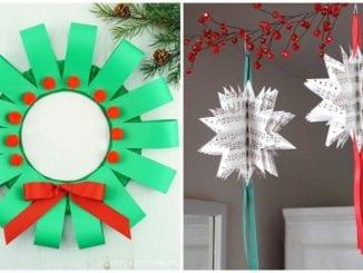 Enfeites criativos com papel para o Natal