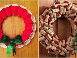 Guirlandas com reciclagem para o Natal