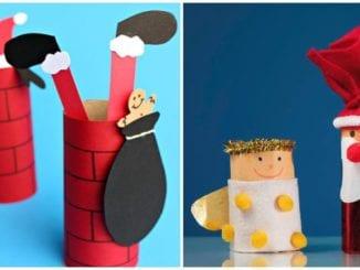 Ideias de Papai Noel com rolos de papelão