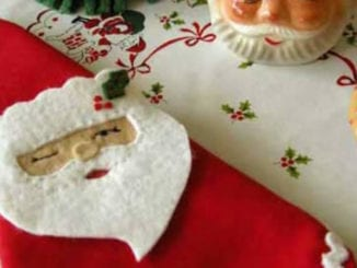 Lindo porta-guardanapo com feltro para o Natal