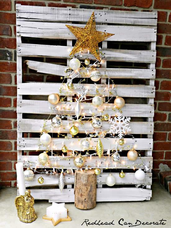Decoração com pallets para Natal