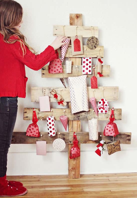 Árvore de Natal para decoração com pallets