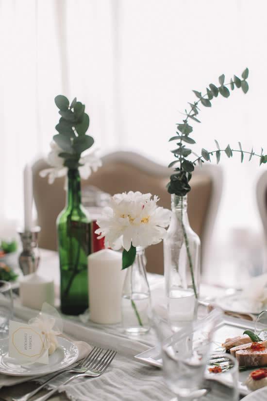 Dica para fazer centro de mesa feito de garrafas