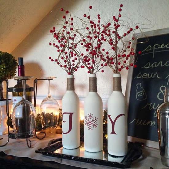 Decoração e enfeites com garrafas para Natal