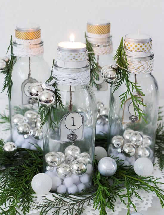 Velas lindas e decoradas de Natal