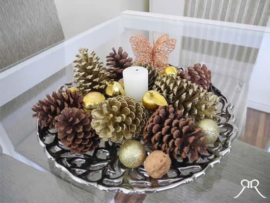Vela decorada para o Natal