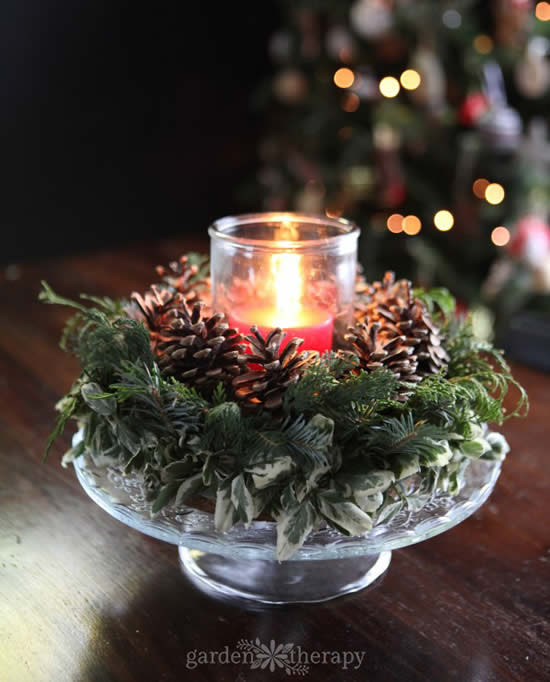 Vela linda e decorada para enfeitar o Natal