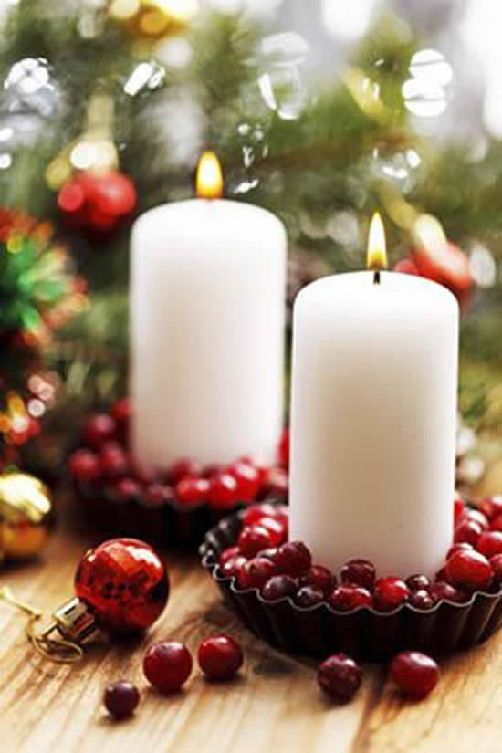 Lindas velas decoradas de Natal