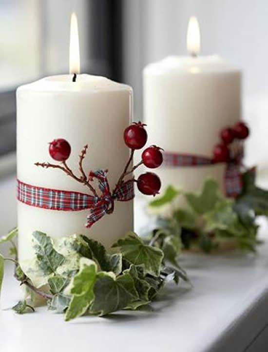 Velas decoradas de Natal