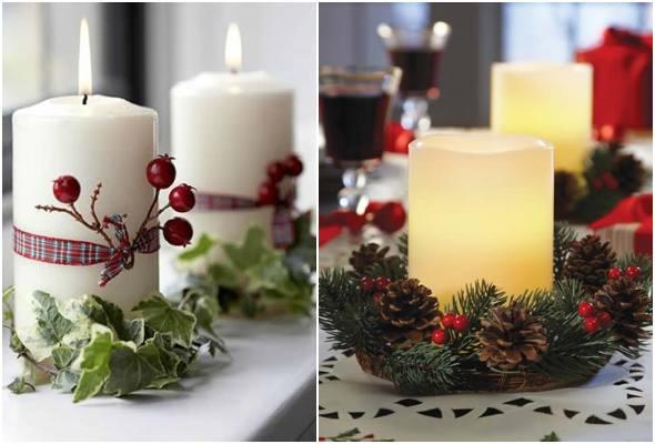 30 ideias de velas decoradas para Natal