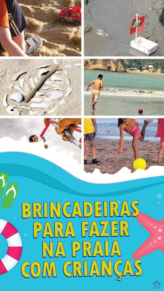 Ideias para brincar com as crianças na praia