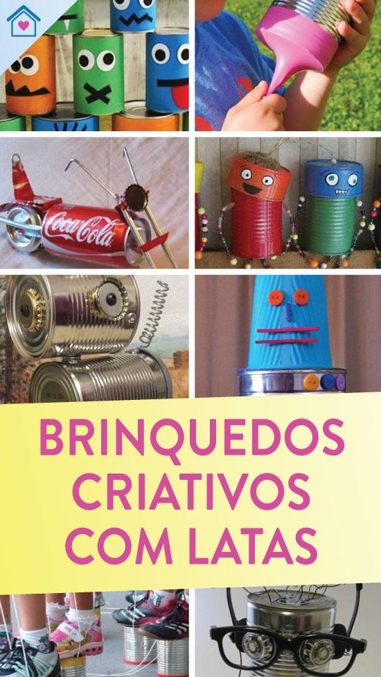 Brinquedos com reciclagem de latas