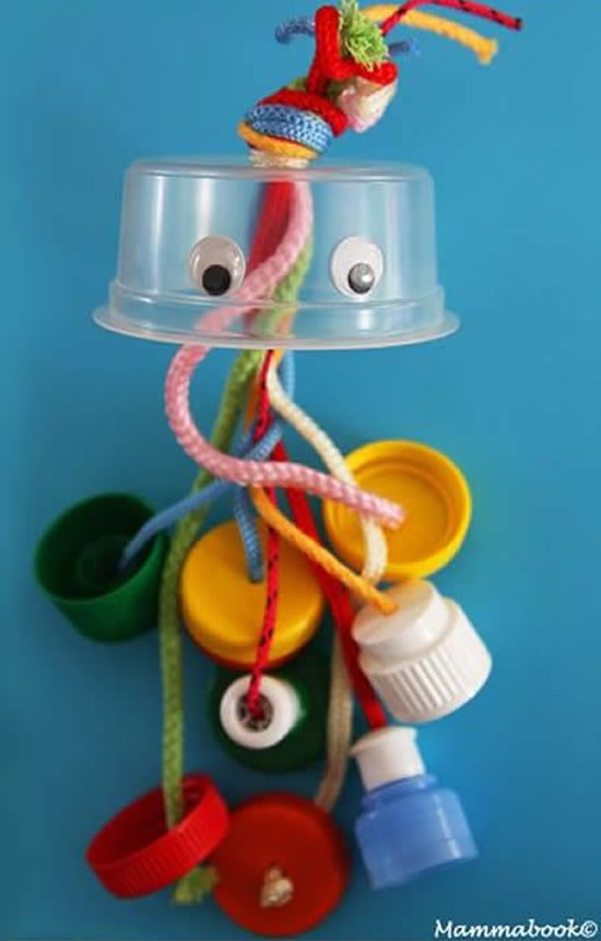 Brinquedos criativos com reciclagem