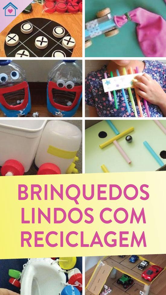 10 brinquedos legais com reciclagem