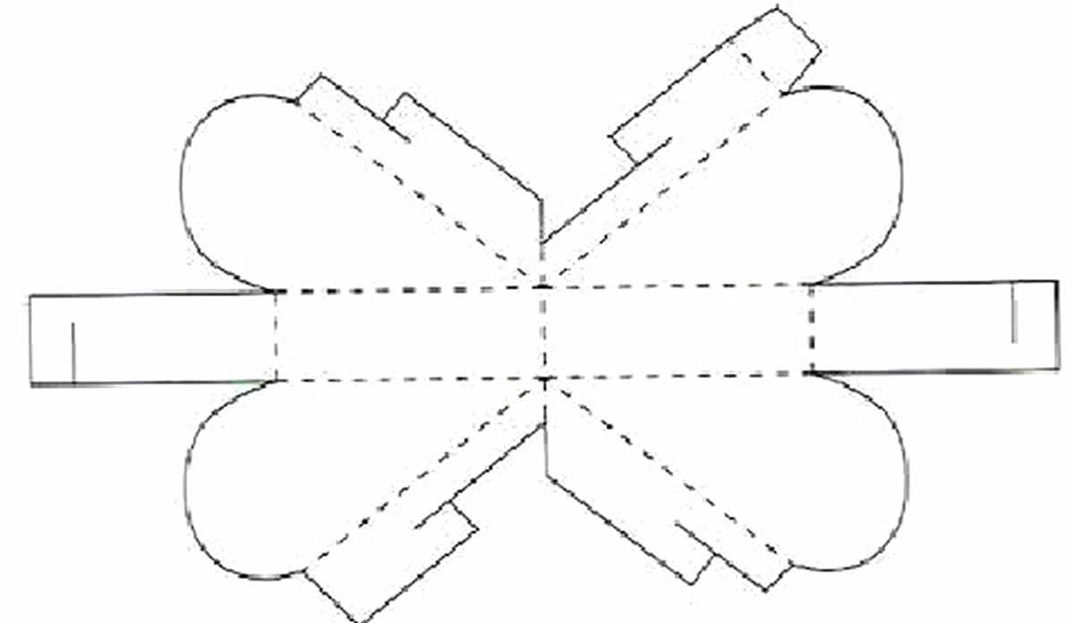Moldes para fazer caixinha de papel