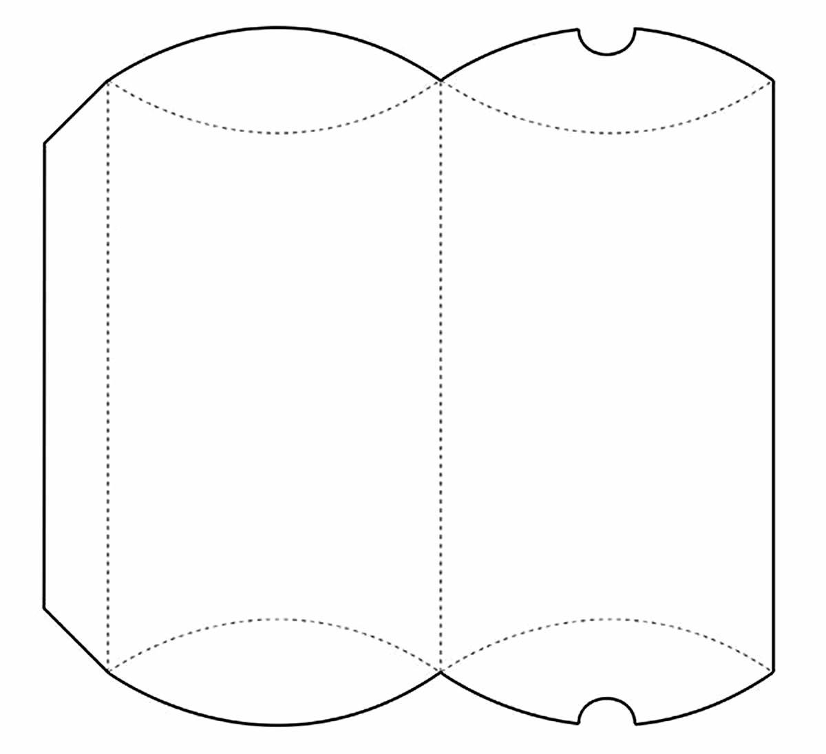 Caixinha de papel com moldes