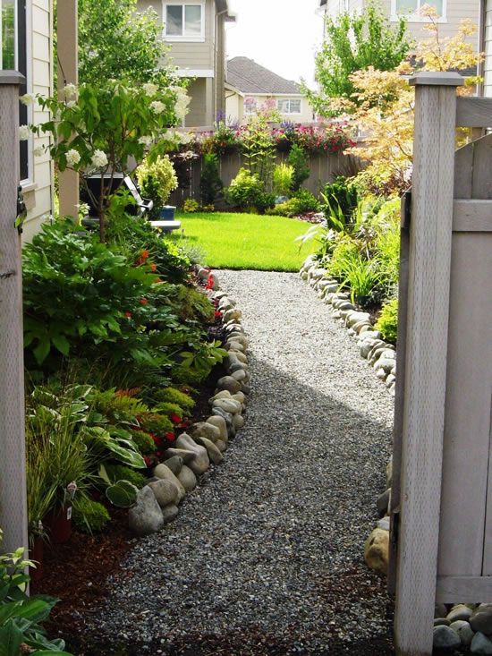 Caminhos lindos para jardim