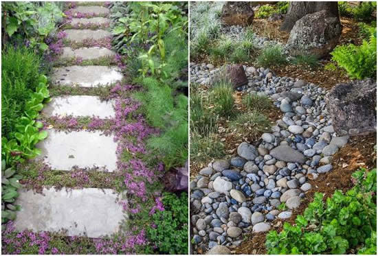 Caminhos lindos no jardim