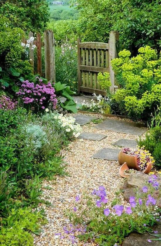 Lindos caminhos para jardim com pedras