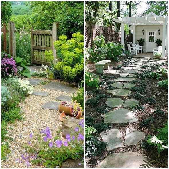 Caminhos para jardim com pedras