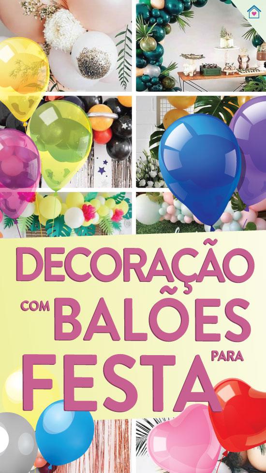 Decoração criativa com balões para festa