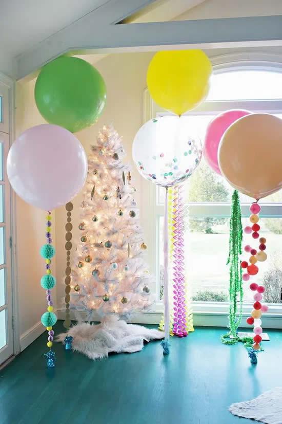 Decoração com balões para festa
