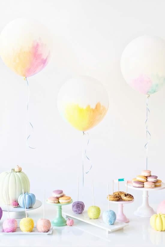 Lindos enfeites com bolas de festa
