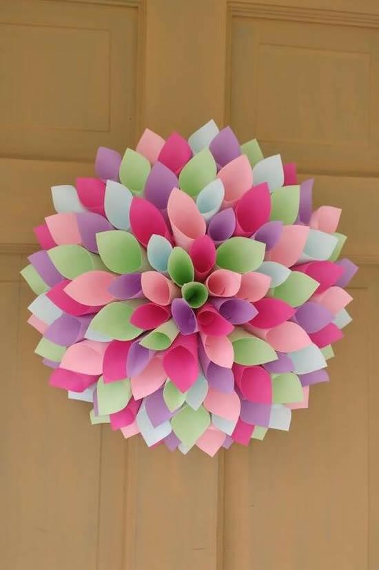 Flores De Papel Para Decoração Com Moldes Dicas Práticas