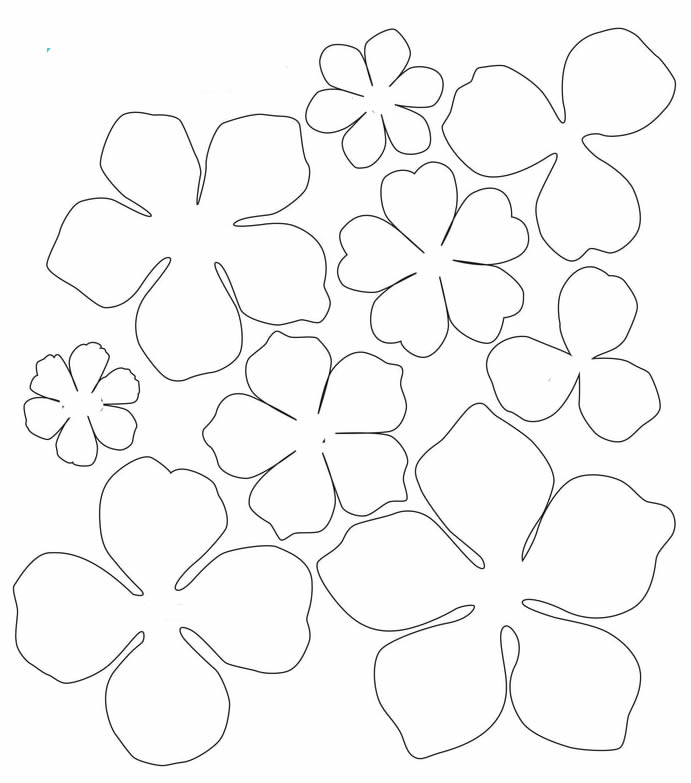 Faça flores de papel com moldes