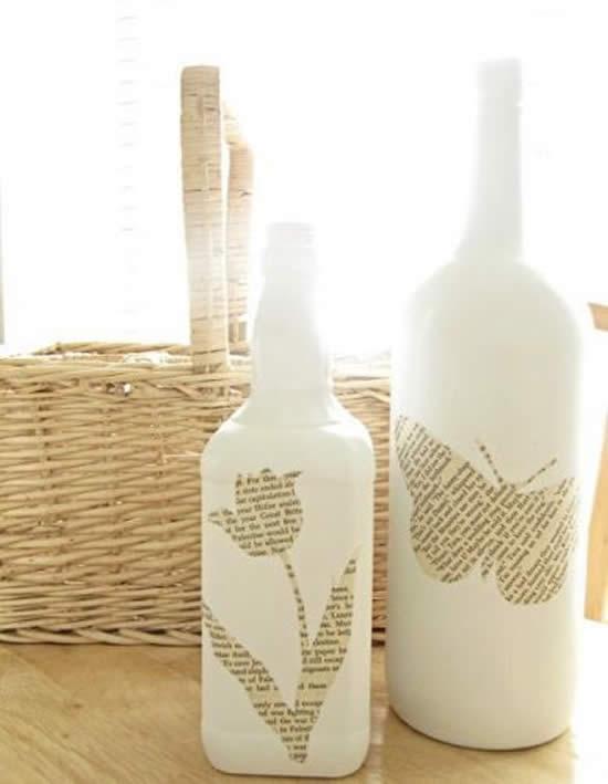 Decoração maravilhosa com garrafas