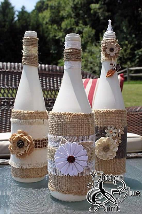 Dicas para decorar garrafas