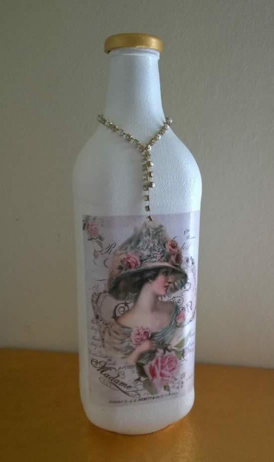 Ideias com garrafas decoradas