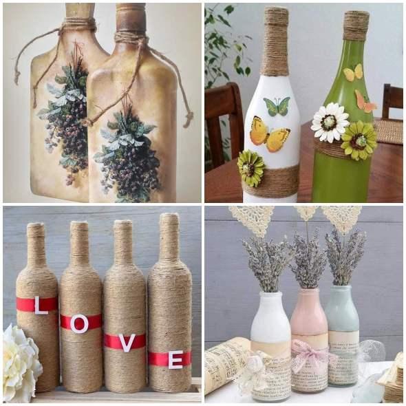 50 garrafas decoradas para enfeitar a casa