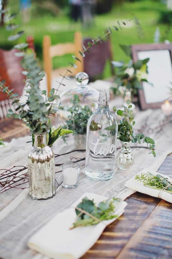 Enfeites para casamento com garrafas